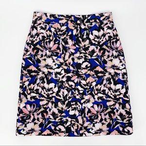 J. Crew Petite Hibiscus Print A-line Skirt